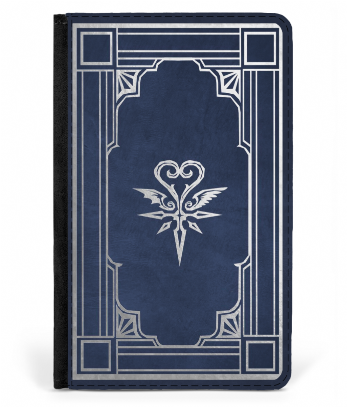 Book of Prophecies Faux Leather Passport Protector Cover - Kingdom Hearts 3, 2, 1 Design